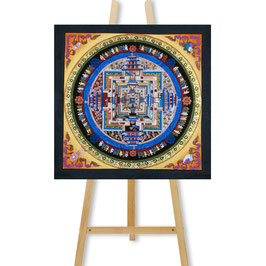 33x33 cm, Kalachakra mandala small colorful thangka