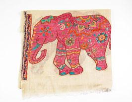 pashmina scarf - 100% cashmere elephants