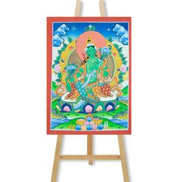 32x42 cm, Die Grüne Tara Thangka