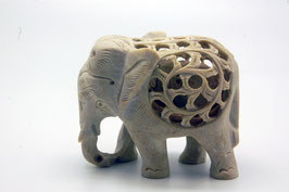 Speckstein Figur Elephant medium