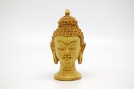 Buddha Kopf weiß