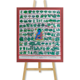 30x35 cm, medical thangka Buddha medical herbs