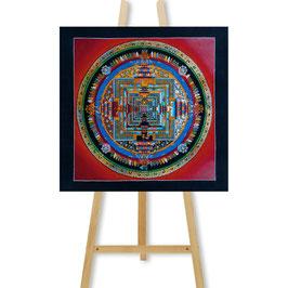 33x33 cm, Kalachakra mandala red thangka