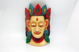 Maske Holzschnitz weiße Tara