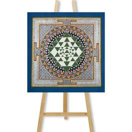 40x40 cm, Sri Yantra Mandala Thangka