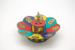 Räucherstäbchenhalter, 4farbig mit Buddha Figuren