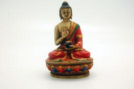 Buddha Figur Kunstharz Abhaya Mudra