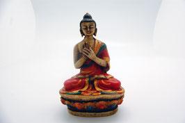 Buddha Figur Kunstharz Dharmachakra Mudra