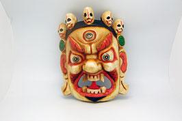 Maske Holzschnitz Bhairava