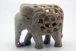 Speckstein Figur Elephant groß