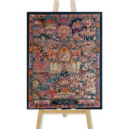 41x53 cm, Buddhas Leben groß Thangka