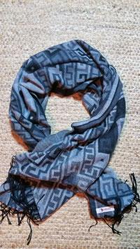 pashmina cotton mix shawl - grey