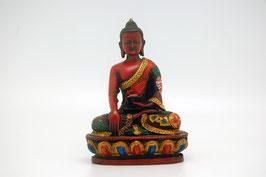 Buddha Figur rot Kunstharz