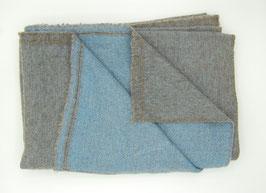 Yakwollschal - pastellblau
