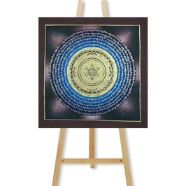 41x41 cm, galaxy mantra mandala thangka on brown