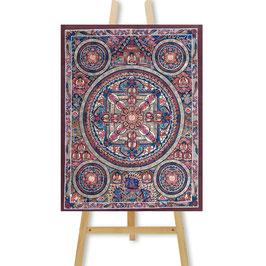 28x51 cm, 6 Buddha Mandalas Thangka