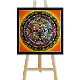 31x31 cm, Kalachakra mandala orange thangka