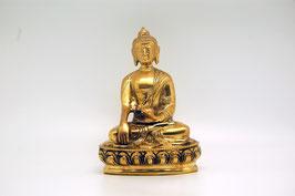 Buddha Messingfigur Bhumisparsha Mudra (groß)