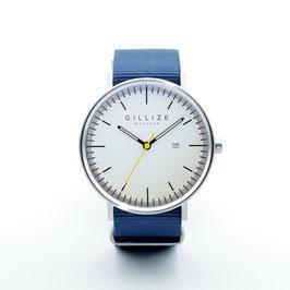 MENO -white- (Navy-blue)