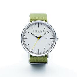 MENO -white- (Olive-green)