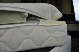 Matratzenbezug mit Topper für Ihre Matratze.