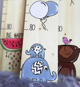 2 Elefanten - Messlatte Kinder, Messlatte Kinderzimmer