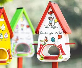 Kindergarten Abschiedsgeschenk Futterhaus Kinder Luftballons