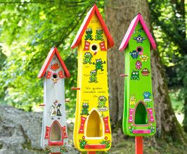 Kindergarten Abschiedsgeschenk XL Modell  Vogelhaus Frosch