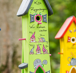 Kindergarten Abschiedsgeschenk XL Modell  Vogelhaus Zwerg