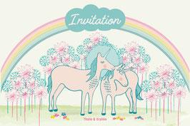 Cartes d'invitation Licornes