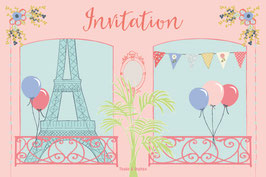 Cartes d'invitation Paris