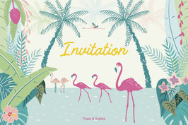Cartes d'invitation tropicale