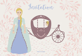 Cartes d'invitation princesse rose