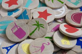 Wooden Icon Memo, jeu de memo