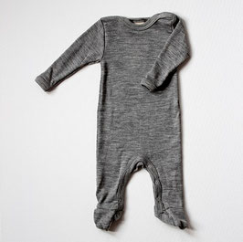 Engel Schlafoverall Wolle/Seide grau