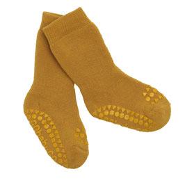 GoBabyGo Krabbelsocken mustard