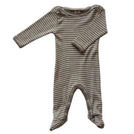 Engel Schlafanzug Wolle/Seide walnuss