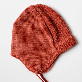 Selana Mütze Merinowolle kupfer