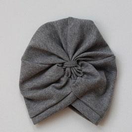 Wooly Organic Turbanhat grau