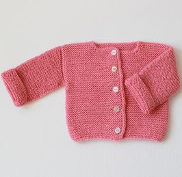 Alpakajacke handgestrickt rosa