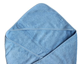 Leela Cotton Kapuzenbadetuch blau