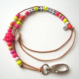 Pfeif drauf! - Pfeifenband  pink-orange