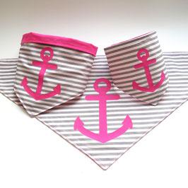 "Hundebandana ""pink Seadog"""