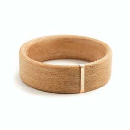Abverkauf-Holzring - Kirsche  + Kupfer-Inlay  [20,0mm/7mm]