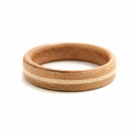 Abverkauf-Holzring - Kirsche + Ahornlinie  [17,5mm/5mm]