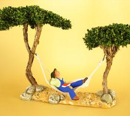 Hamac homme grand socle avec arbres