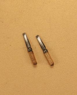 mini outil Ciseau à bois lot de 2