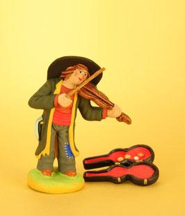 Violoniste et boite à violon