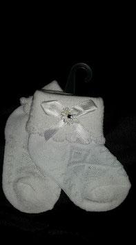 Witte baby sokjes