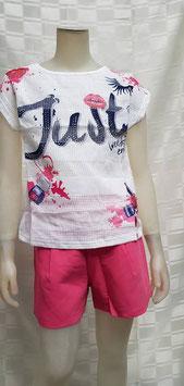 Mooie set shirt met korte broek